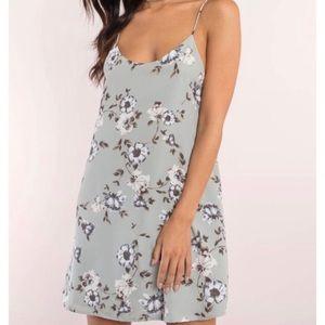 Tobi   Slate blue floral shift dress